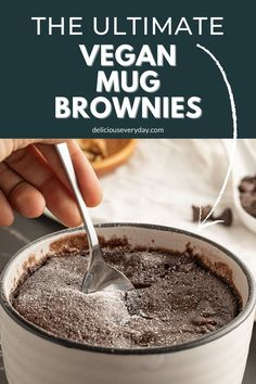 Serve up a single-serve Vegan Mug Brownie for an after-dinner dessert. If you have a sweet tooth, you will love this brownie in a mug. It's got loads of sweet chocolate flavor, and it only takes 60 seconds to cook! Chocolate Strawberry Desserts, Chocolate Sweets, Dairy Free Chocolate, Chocolate Flavors, Chocolate Recipes, Vegetarian Christmas Recipes, Healthy Vegan Desserts, Vegan Dessert Recipes, Honeycomb Cake