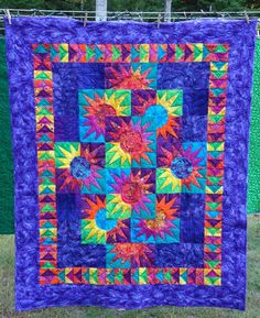Paper pieced quilt - beautiful colors