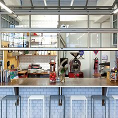 Cafe Fit Out Steel Shelving Vintage Counter Coffee Shop Fitting Shop Fit Out Auckland
