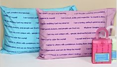 """Pleasant Dreamz Positive Affirmation Pillowcase 