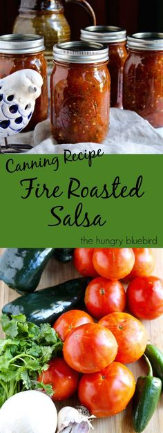 Fire Roasted Salsa ~ canning recipe                                                                                                                                                                                 More