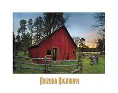 Old Red Barn, Arizona Highways
