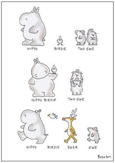 "one of the all-time classics. ""Hippo Birdie Two Ewe"" birthday card by The Great Sandra Boynton Happy Birthday Cards, Birthday Greetings, Birthday Wishes, Bday Cards, Birthday Celebration, Sandra Boynton, Birthday Messages, Birthday Quotes, Birthday Funnies"