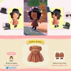Ready for festival season ACNH style in this little boho set 🤠 Animal Crossing Funny, Animal Crossing Guide, Animal Crossing Villagers, Animal Crossing Qr Codes Clothes, Festival Looks, Festival Style, Festival Wedding, Boho Festival, Festival Party
