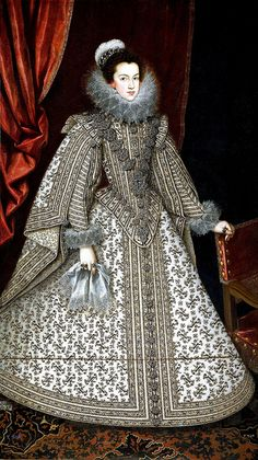 "spanishbaroqueart: "" Rodrigo de Villandrando Portrait of Philip, Prince of Asturias (future King Philip IV of Spain), with the court dwarf Miguel Soplillo; 1620 Portrait of Elisabeth of. Mode Renaissance, Costume Renaissance, Renaissance Fashion, Elizabethan Costume, Historical Costume, Historical Clothing, 17th Century Fashion, 16th Century, French Royalty"