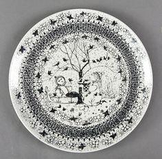 Buy Winter Bjørn Wiinblad Four Seasons plate from Danish Porcelain House. Wall Plaques, Four Seasons, Scandinavian, Decorative Plates, Pottery, Ceramics, Retro, Ebay, Tableware
