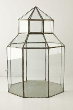 Glass Gazebo Terrarium #Anthropologie #PinToWin