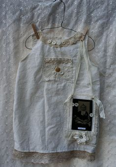 DuMpLing Vintage Tin Type on Hand Made Baby Dress with antique Easy Diys For Kids, Vintage Nursery, Altered Couture, Baby Gown, Linens And Lace, Baby Crafts, Fabric Art, Boho Outfits, Vintage Images