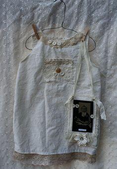 primitive dress with antique tintype #sugarlumpstudios