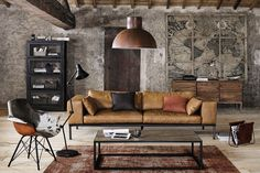 Living Room Designs Inspiration - 35 Best Modern Rustic Living Room Decor Ideas You Need To Design Example. Industrial Interior Design, Home Interior, Industrial Living, Industrial Style, Industrial Shop, Industrial Shelving, Industrial Restaurant, Industrial Bedroom, Industrial Furniture