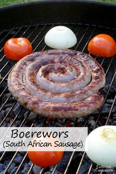 Robust and flavorful South African Boerewors is the homemade sausage you need for your next grilling party! Braai Recipes, Cooking Recipes, Oven Recipes, Pork Recipes, Chorizo, South African Braai, How To Make Sausage, Sausage Making, African Peanut Stew