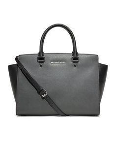 MICHAEL Michael Kors  Large Selma Two-Tone Satchel.