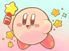 This kirby have star rod.