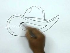 How to Draw a Cowboy Hat  (frederic remington)
