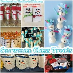 Snowman Class Treats featured on 50 Winter Holiday Class Party Ideas! From store-bought snacks to homemade treats, to non-food goodies, this list has everything you need for Christmas classroom parties. (christmas party treats for kids school) Class Birthday Treats, Christmas Classroom Treats, Christmas Party Snacks, School Christmas Party, School Birthday, Preschool Christmas, Christmas Mom, Christmas Ideas, Xmas
