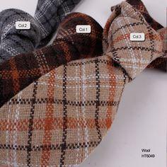fancy stripe wool necktie  HT6049
