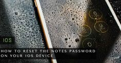 How to Reset the Notes Password on Your iOS Device