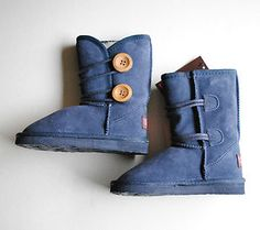 "#shopping Starting Bid $24.95 Ukala by Emu ""Amelia Kids"" Girls Boots Youth Size 3 Navy Blue New with Tags"