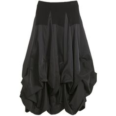 She's Crazy Black Taffeta Tier Skirt from idaretobe Official Stockist (£109) found on Polyvore