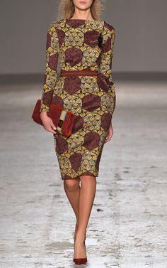 Solidea Sheath Dress by Stella Jean for Preorder on Moda Operandi. Desire.