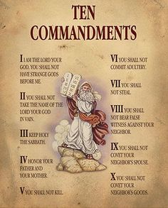 The Ten Commandments of the Bible are taught to us by Jesus. From the Bible we read the story of Moses and the Decalogue.
