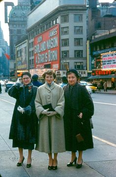 NY and the movies 2: Times Square - 1954. About to see A Star is Born with Judy Garland and James Mason