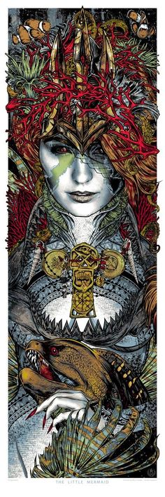Studio Seppuku - The Art of Rhys Cooper — The Little Mermaid - art print x Pangeaseed Rhys Cooper, Little Mermaid Art, Rock Posters, Wolf, Dark Art, Illustrations Posters, Fantasy Art, Cool Art, Street Art