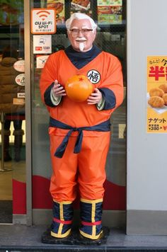 The Colonel has gone all Dragon Ball Z at KFC #Japan
