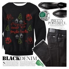 """""""Black Denim"""" by vanjazivadinovic ❤ liked on Polyvore featuring BRAX, Kershaw, By Terry, polyvoreeditorial and twikledeals"""