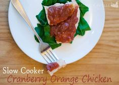 Slow Cooker Cranberry Orange Chicken - Homemade and Happy