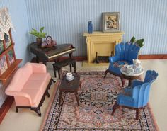 Vintage Dollhouse Furniture  RENWAL Living Room Set by TheToyBox