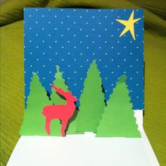 DIY christmas-card, in 3D! Super easy and super nice!!