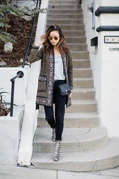 Jamie Chung wearing Rebecca Taylor Pickstitch Coat, Opening Ceremony x Chloe Sevigny Buckle Boots, Elizabeth and James Cynnie Micro Bag and Dior Technologic Sunglasses