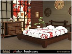 The Sims Resource: Asian bedroom by Severinka • Sims 4 Downloads