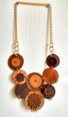 A personal favorite from my Etsy shop https://www.etsy.com/listing/214909810/leather-necklace-brown-necklace