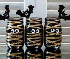 bricolage pot momie pour halloween
