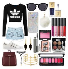 """Sin título #265"" by frichu on Polyvore featuring moda, adidas Originals, Aloha From Deer, Red Herring, Yves Saint Laurent, Charlotte Russe, Isabel Marant, BauXo, MAC Cosmetics y NARS Cosmetics"