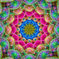 Radiant Star Mandala by James Alan Smith #art #digitalart #mandala