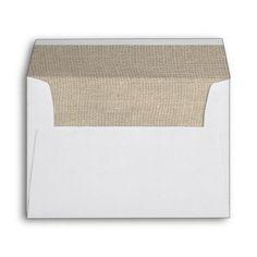Burlap Rustic Wedding Envelope