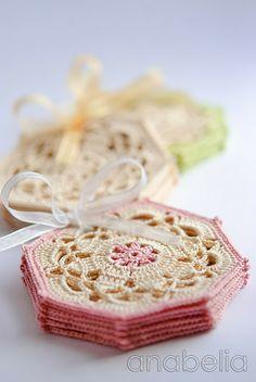 Crochet coasters by Anabelia