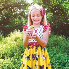 This Eleanor Rose dress from A Bushel and a Peck collection is perfect for your fun-loving girl!