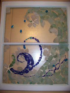 sea glass window art