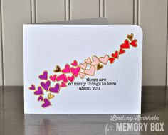 Heart Wave die paired with the So Many Things to Love Stamp set (for the sentiment)