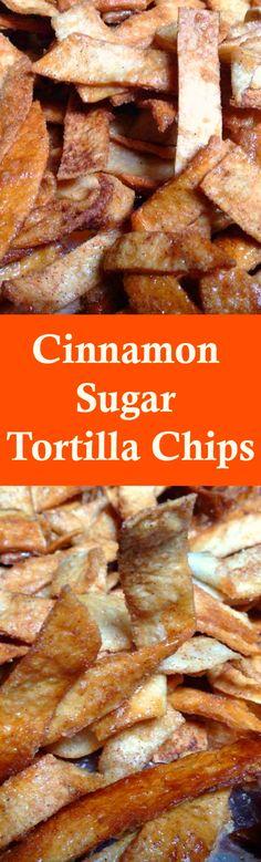 Cinnamon Sugar Tortilla Chips! So good!   Lovefoodies.com