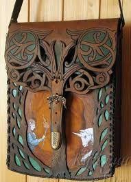 Resultado de imagen para bolsas de cuero hechas a mano