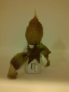 Primitive & Country Grubby Night Light by PrimOuthouse on Etsy, $6.00