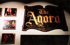 Original Agora Theater sign, 1995, in Rock Hall More #Paranormal Information can be found at: http://www.panicd.com/location.php?ln=1244