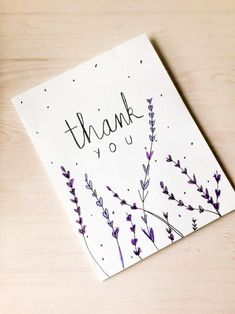 Set of Four Thank You Cards - Visiten Karten 2020 Cute Thank You Cards, Thank You Card Design, Handmade Thank You Cards, Handmade Greetings, Cute Cards, Greeting Cards Handmade, Thank You Greeting Cards, Handmade Gifts, Birthday Card Drawing