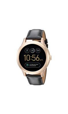 295$ - Fossil Q Founder Gen 1 Touchscreen Black Leather Smartwatch  #watch #digital watch #timepiece #clock #time #timer #stopwatch #business #old #instrument #money #metal #hand #finance #number #close #equipment #baseball glove #antique #cash #currency #retro #gold #measurement #technology #vintage