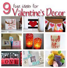 9 Valentine Decor Ideas from Craft Gossip! #Valentine'sDay